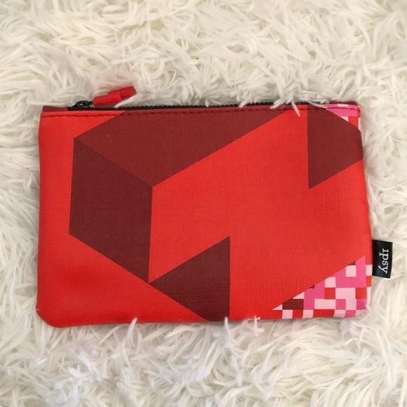 5e51bc832fd9 Ipsy Red Tetris Makeup Bag NWT